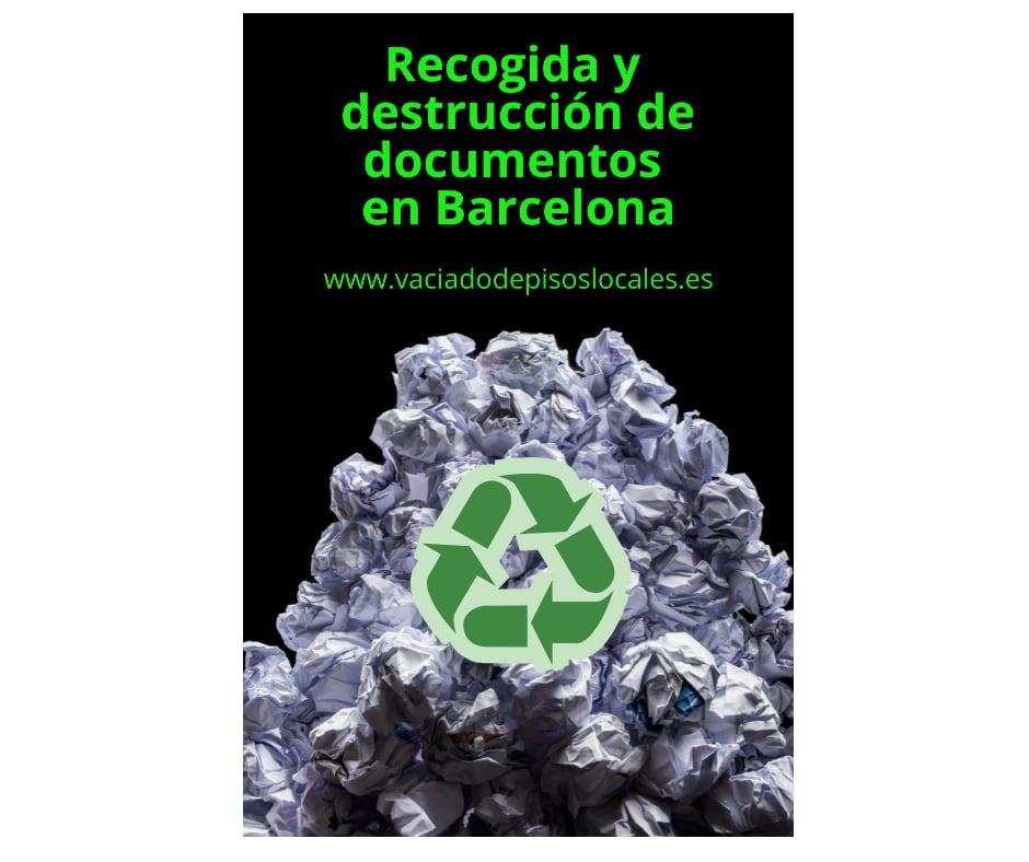 Recogida y destrucción documentos Barcelona